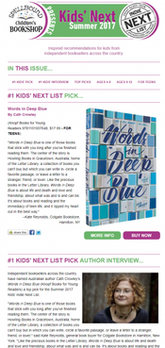 Kids' Summer Indie Next List e-newsletter