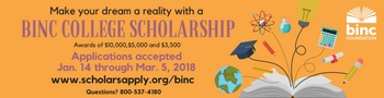 Binc higher education scholarship ad