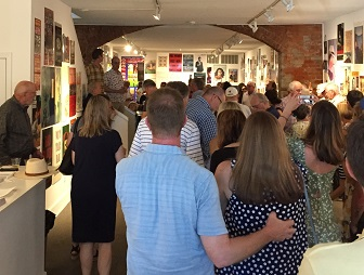 "The ""40 Years of Book Posters from Square Books"" opening at Southside Gallery."