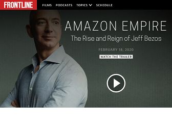 Screenshot of Amazon Empire documentary trailer screen