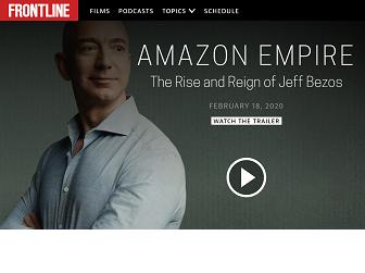 Screenshot of Amazon Empire documentary trailer screen