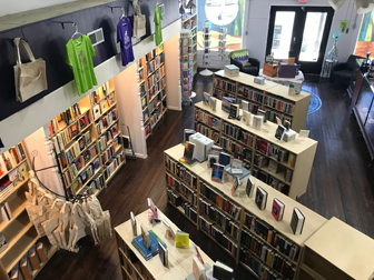Interior of Arts & Letters Bookstore