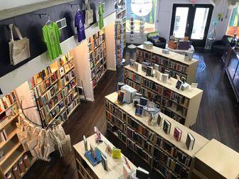 Interior of Arts & Letters Bookstore