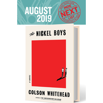 August Indie Next List flier cover featuring The Nickel Boys by Colson Whitehead