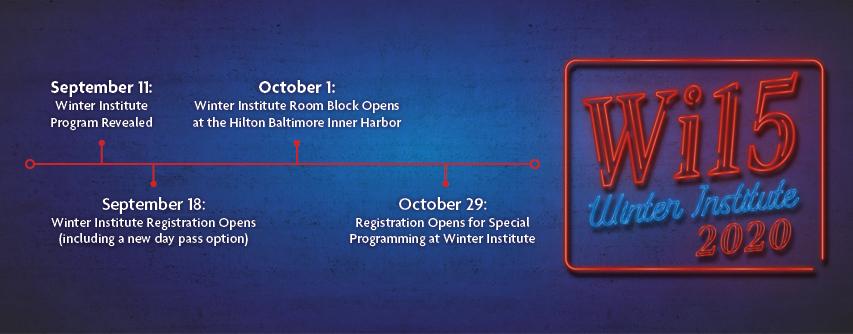 Registration timeline for Winter Institute 2020