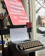 Typewriter at Battenkill Books