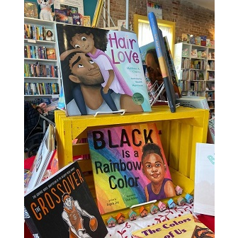 An array of titles on display for Black History Month