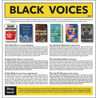 Black voices printed book catalog