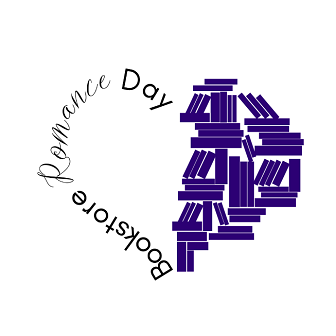 Bookstore Romance Day logo, designed by BrocheAroe Fabian at Broche Consulting.