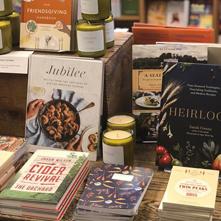 Display of cookbooks at Buffalo Street Books
