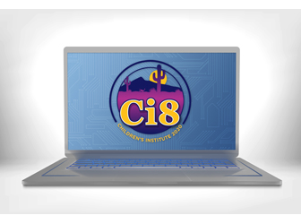 Children's Institute logo on laptop