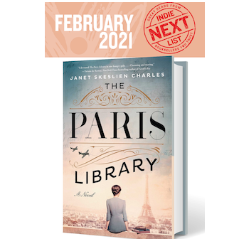 February Indie Next List flier featuring The Paris Library