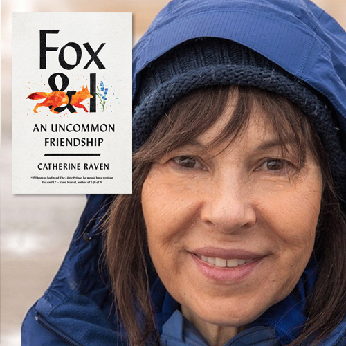 Catherine Raven and her book cover Fox & I