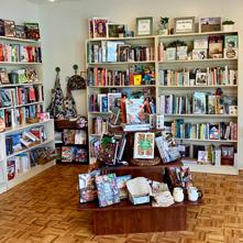 Book displays at Lahaska Bookshop