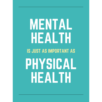 Mental health is as important as physical health