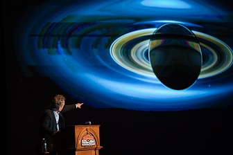 Bestselling author and physicist Brian Greene at an event hosted by New Dominion Bookshop.