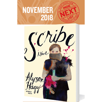 November Indie Next List Flier featuring Scribe by Alison Hagy