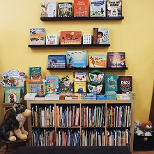 Display of children's books at Oblong Books