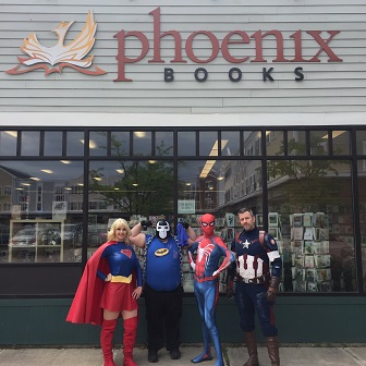 The Guardian Legion outside of Phoenix Books