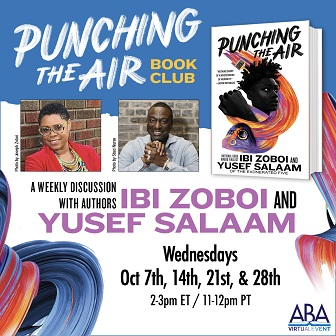 Punching the Air book club: Wednesdays in October at 2:00 pm ET