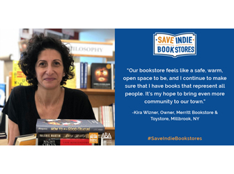 Kira Wizner photo and comments on being a bookseller