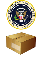 US Presidential seal and shipping box