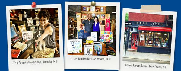Photos of three ABA member bookstores