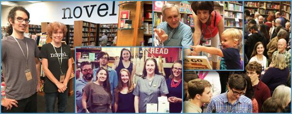 Bookstore collage