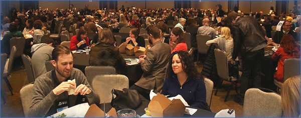 Winter Institute attendees at lunch