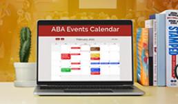 An image of ABA's events calendar