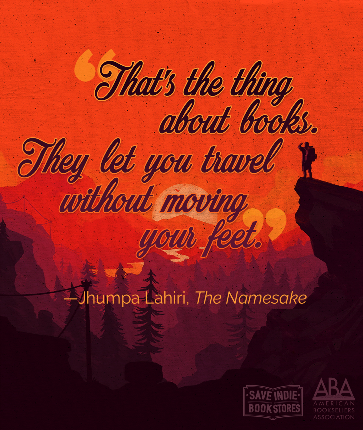 books let your travel without moving your feet - Jhumpa Lahiri