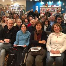 Customers at an author event at Lahaska Bookshop