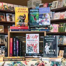 Book display at Quail Ridge Books