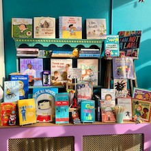A display of books for National Disability Awareness Month
