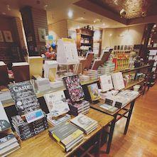 Display of books at Wellington Square Bookshop