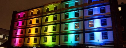 LED lighting can brighten up a plain building
