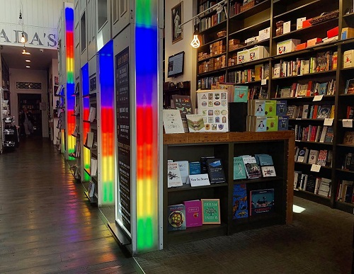 Ada's Technical Books lights up in rainbow for Pride