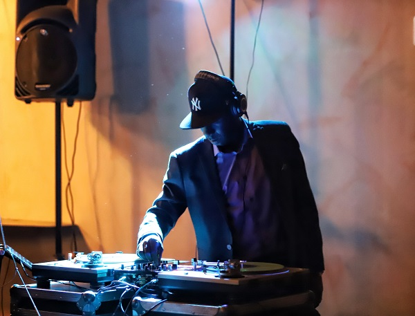 The DJ at the opening night Afterparty.