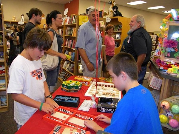 Families enjoy game nights at Anderson's Bookshop.