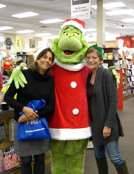 The Grinch stops by for photos at Anderson's.