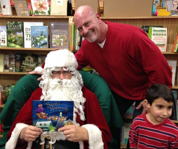 Santa shares stories with families at Anderson's.