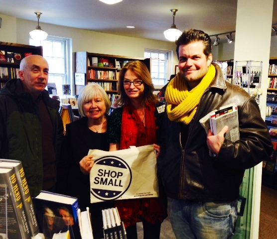 Hickory Stick Bookstore customers join author Ann Leary and owner Fran Keilty