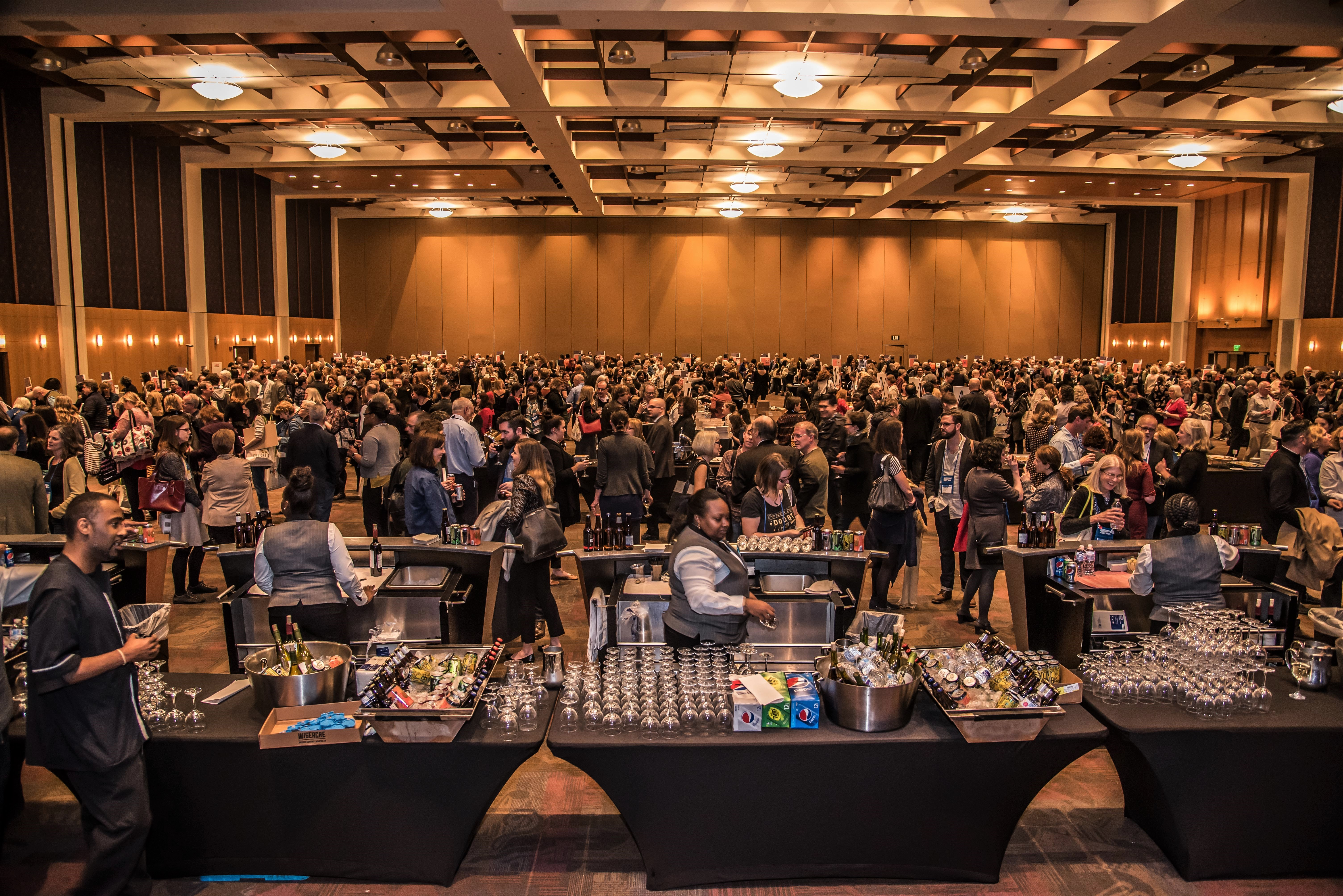 The Author Reception on Wednesday drew hundreds of booksellers.