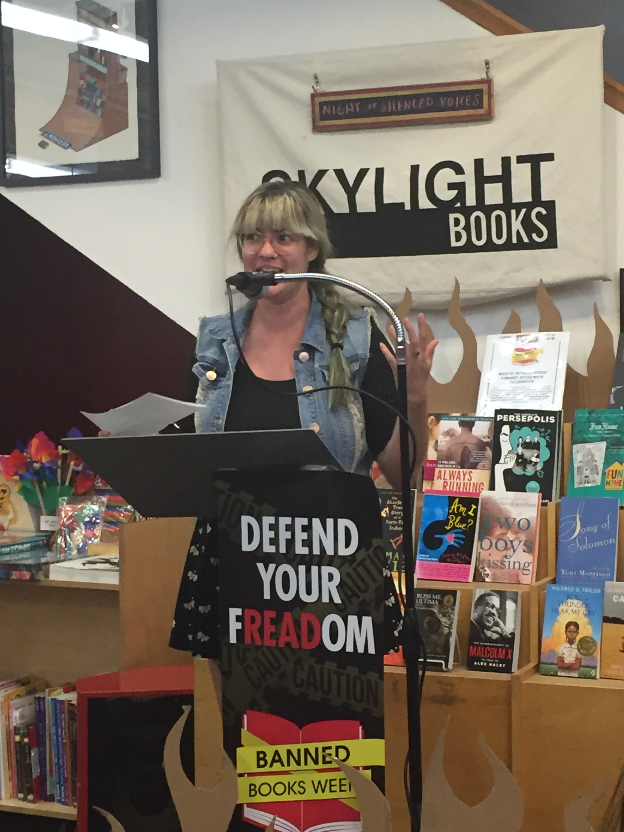 Kelsey Nolan, Skylight Books assistant events manager.