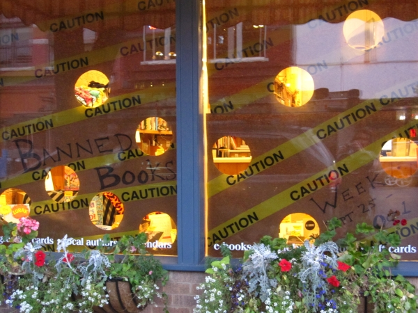 Maria's front window display drew a lot of attention.