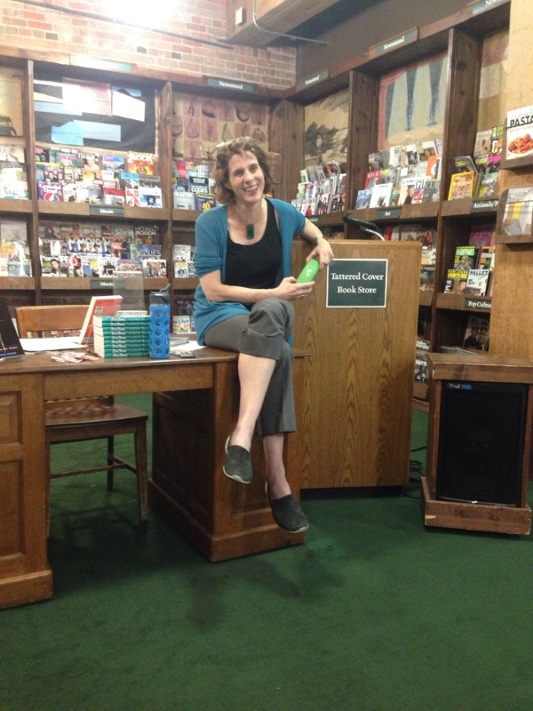 Professor Gillian Silverman leading a discussion of Alison Bechdel's Fun Home at Tattered Cover.