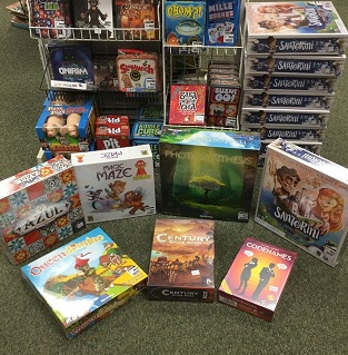 A selection of games at Barstons Childs Play, which has four stores in the Washington, D.C. area