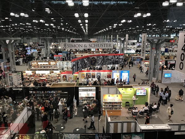 The BookExpo floor remained busy throughout the event.