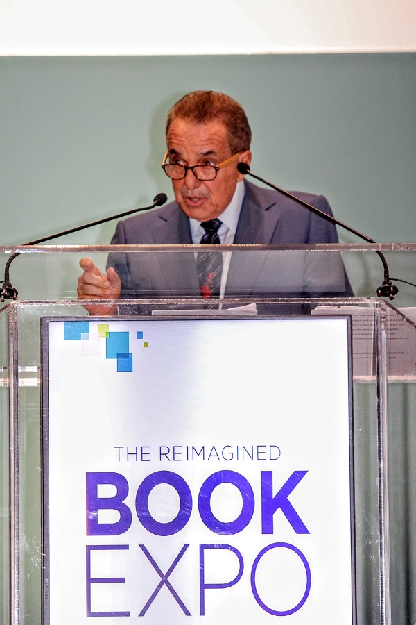Len Riggio speaking at BookExpo 2018