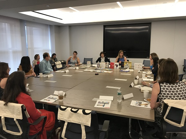 "Booksellers visited HarperCollins for ""Meet the Editor."""